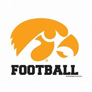 Iowa Hawkeyes Football Decal