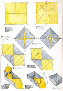 Origami Boxes with Lids Instructions