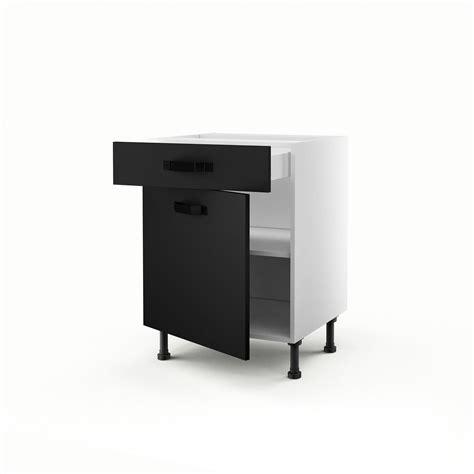 meuble cuisine noir meuble de cuisine bas noir 1 porte 1 tiroir mat edition