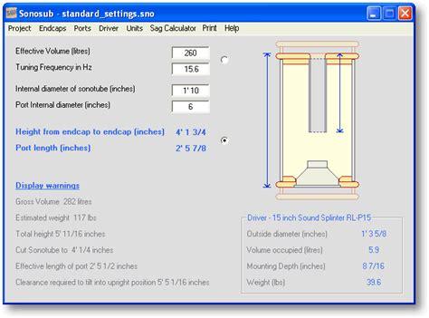 Speaker Cabinet Design Software Free by Sonosub Free Speaker Design Software
