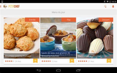 application de recette de cuisine ptitchef recettes de cuisine applications android sur