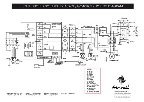 Airwell Rcf Rcfx Wiring Diagram Service Manual