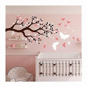 Stickers Arbre Chambre Bébé : stickers chambre b b arbre et papillons pour du bonheur ~ Melissatoandfro.com Idées de Décoration