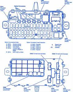 Honda Del Sol 1997 Engine Control Fuse Box  Block Circuit Breaker Diagram