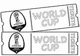 Cup Coloring Tickets Fifa Coloringpagesfortoddlers Ticket Sheets Printable Sport Football sketch template
