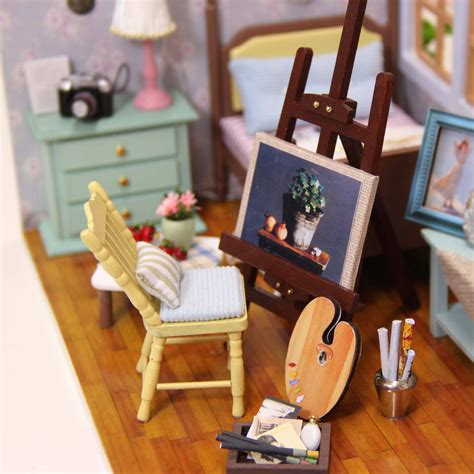 Cuteroom Diy Doll House Miniature Wooden Handmade Model