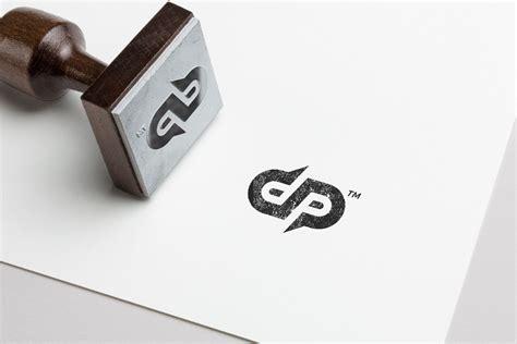 dp monogram logo creative illustrator templates creative market