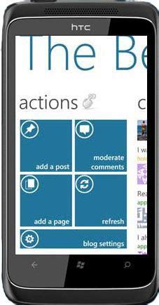 wordpress app  windows phone