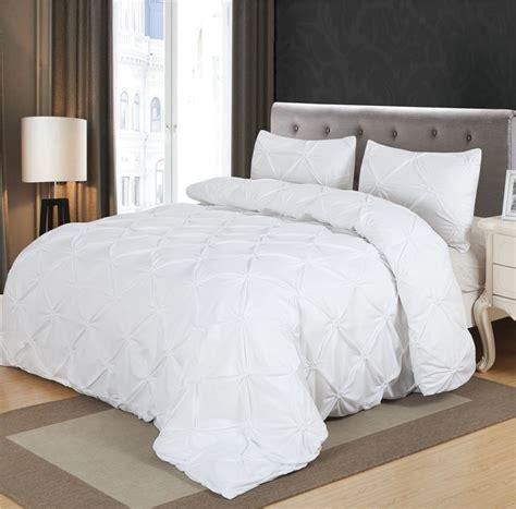 luxury white comforter sets luxury duvet cover set white black pinch pleat 2 3pcs king bedding sets no filling