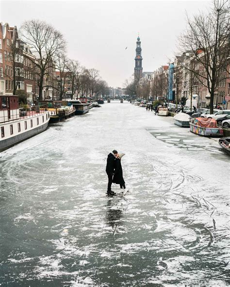 Frozen Canals In Amsterdam The Netherlands Find Us Lost