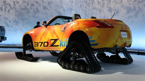 Nissan Car 370z Snow by Nissan 370zki Is The Bonkers Two Seat Snowmobile Of Your