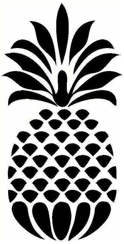 Pineapple Vinyl Decal Silhouette Wall Clipart Stencil