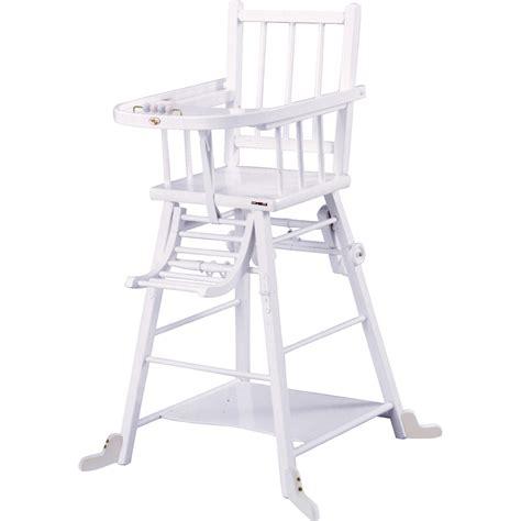 chaise haute bebe combelle chaise haute b 233 b 233 transformable laque blanc de combelle chez naturab 233 b 233