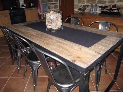 table cuisine style industriel revue de details nouvelle table de cuisine l 39 orangerie