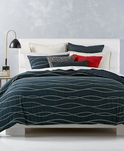 hotel collection modern wave cotton bedding collection