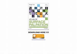 Atlas Of Surface Palpation  Anatomy Of The Neck  Trunk