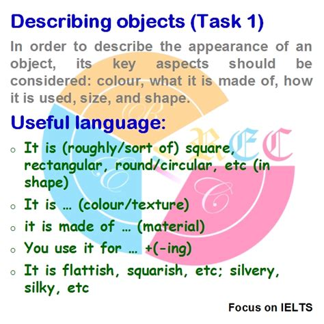 Useful Language For Describeing Objects In Ielts Writing Task 1 (proofread, Edit)  Real Essay