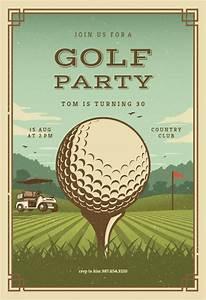 Sport Party Invitations Retro Golf Sports Games Invitation Template Free In