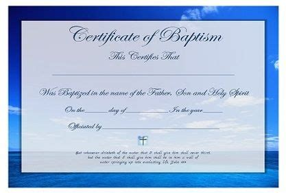 christian baptism certificate  template  ages