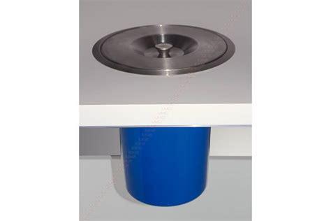 meuble cuisine exterieur inox vide déchets de plan de travail avec seau accessoires de