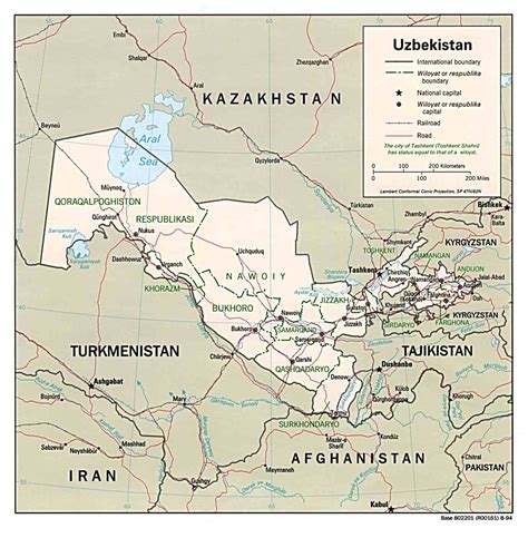 map  uzbekistan