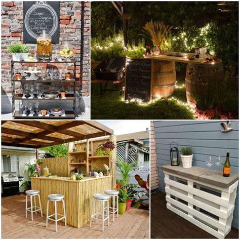 backyard ideas diy 5 amazing diy outdoor bar ideas for your backyard