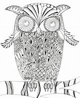 Owl Coloring Intricate Printable Pages Mandala Print Most Judyclementwall Favecrafts sketch template