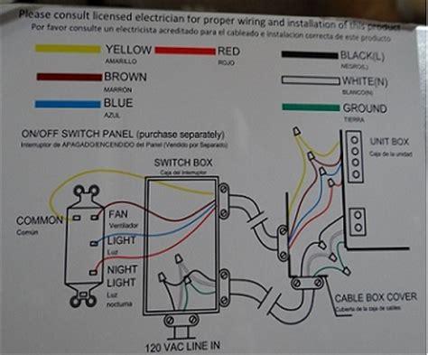 hampton bay ventilation fan wiring doityourselfcom