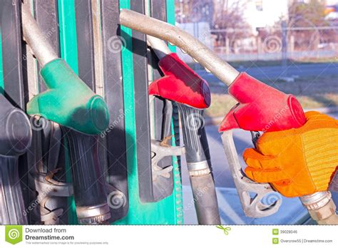 Refueling Point Stock Photo