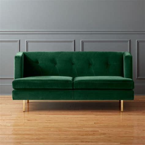 Avec Apartment Sofa by Avec Apartment Sofa With Brass Legs Como Emerald Cb2