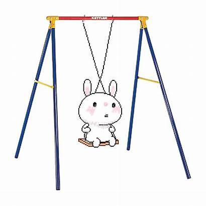 Animated Twist Playing Gifs Swinging Swing Rabbit