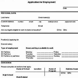 download a free sample blank employment application so you With how do i fill out a resume