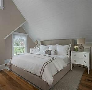 Lambris Peint En Blanc : 1001 id es d co de chambre sous pente cocoon ~ Dailycaller-alerts.com Idées de Décoration