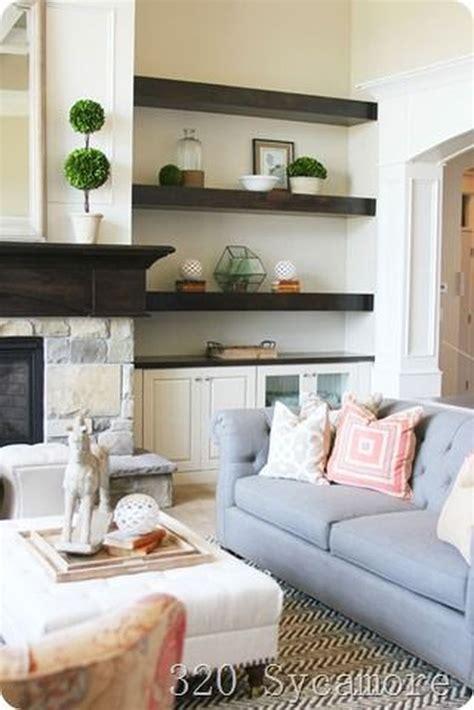 Ideas For Living Room Shelves by Brilliant Built In Shelves Ideas For Living Room 57