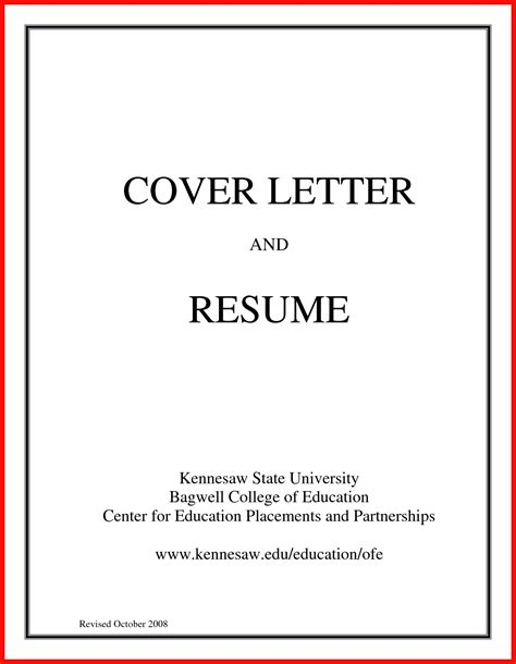 Basic Cover Letter Sample  Apa Example