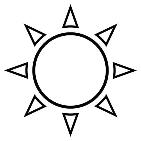sun template sun outline free vector 4vector