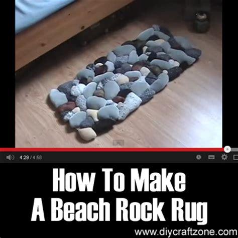 how to make rock diy craft zone how to make a beach rock rug diy craft zone