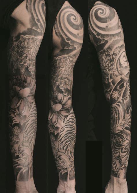 long sleeve blackg tiger clouds flower federico