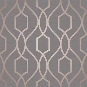 Fine Decor Trellis Copper Wallpaper FD41998