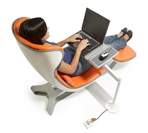 bureau pour pc portable et imprimante futuristic home office chair