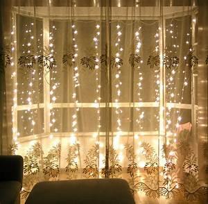 3, U00d73m, 6x3m, Led, Curtain, Window, Light, Wall, Wedding, Xmas, Hanging, Fairy, String, Light
