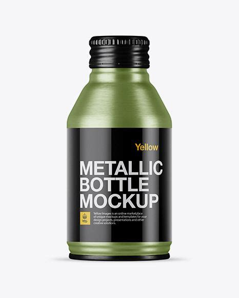 We see tons of things in markets which delivers specific facilities to the users to make their workloads more and easy and free of hassle. Download Textured Metal Drink Bottle Mockup... | Bottle ...