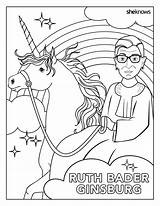 Ginsburg Coloring Ruth Bader History Month Perfect Pages Rbg Harvard sketch template