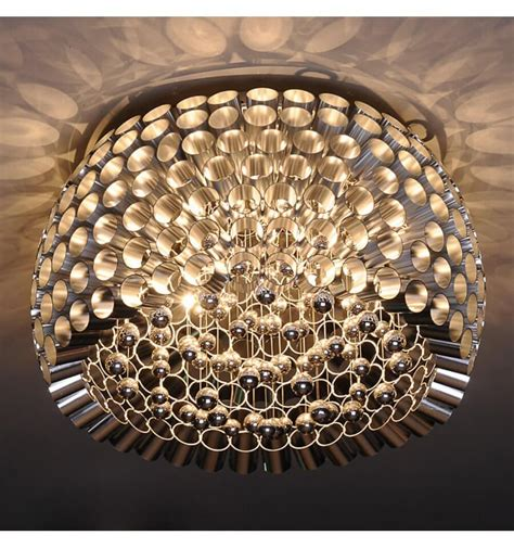 flushmount ceiling light  glass pattern  bulbs lotus