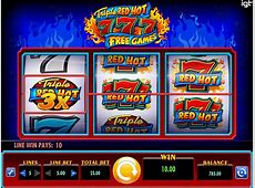 Triple Red Hot 7's Free Games Slots Online Spin And Win