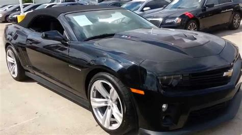 Black Convertible Camaro by 2013 Chevrolet Camaro Zl1 Convertible Black On Black Auto