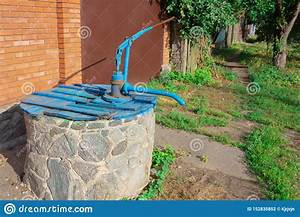 Farm Village County Water Well With Hand Manual Pump  Old