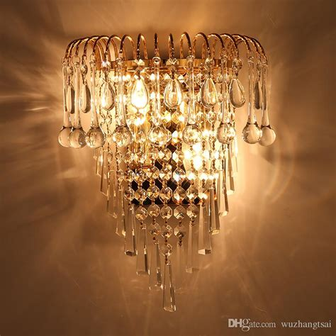 2018 classic crystal chandelier wall light gold