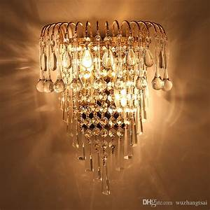 Deco Lighting Laser Light 2018 Classic Crystal Chandelier Wall Light Gold