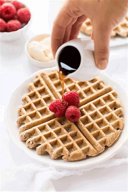 Waffles Flour Almond Wholesome Recipe Healthy Breakfast